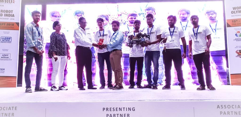 AKGEC Won Advance Robotics Challenge : 15-16th September, 2018